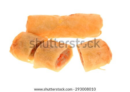 Deep Fried Spring Rolls, A Chinese Snack - stock photo