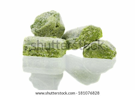 Deep Frozen Spinach - stock photo