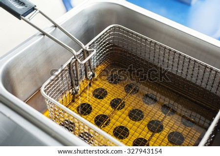 deep fryer - stock photo