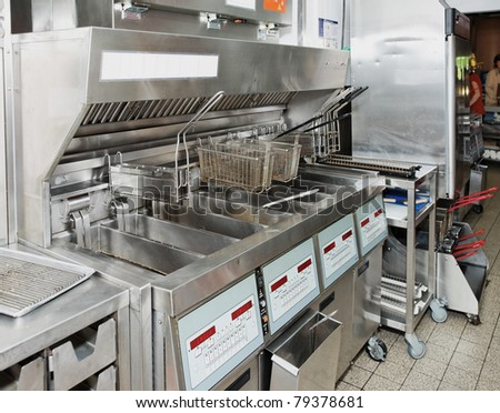 Deep Fryer On Commercial Kitchen Stock Photo (Royalty Free) 79378681 ...