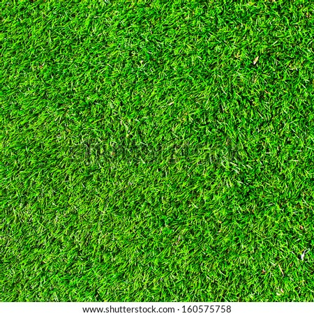 Deep Green and Vivid background of football field grass texture - stock photo