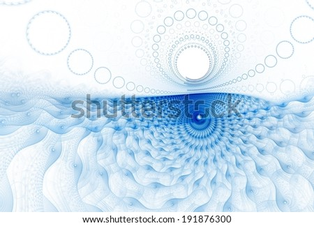 Deep navy / blue abstract ocean / sun design on white background - stock photo