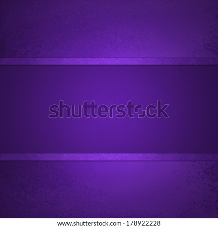 deep purple background with elegant ribbon stripe layers centered on faint aged vintage grunge background texture, purple center display spotlight with blank copyspace - stock photo