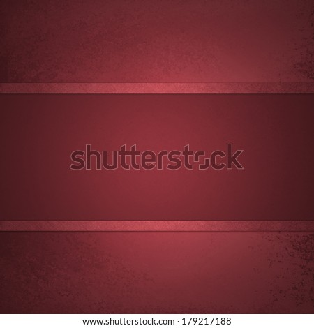 deep red background with elegant ribbon stripe layers on faint aged vintage grunge background texture, red center display spotlight with blank copyspace, red Christmas background or valentine colors - stock photo