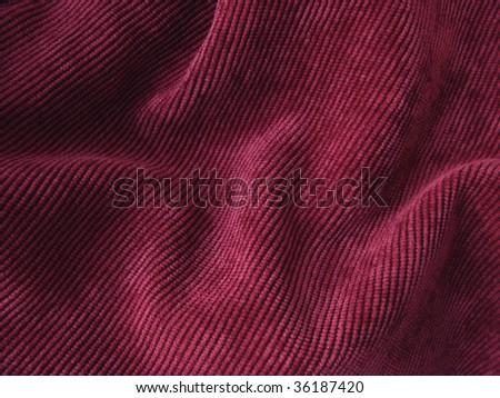 deep red folded grunge velvet background - stock photo