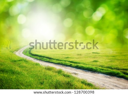 Deep road. Element of design. - stock photo