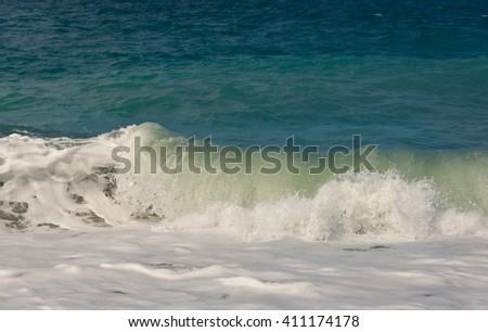 Deep sea water waves - stock photo