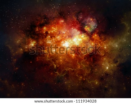 Deep space nebula - stock photo
