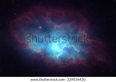 Deep space nebula - stock photo