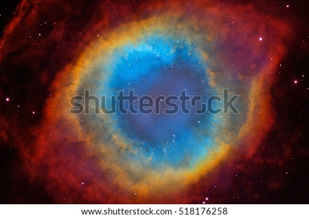 Deep space object: Helix Nebula (NGC 7293), elements of this image furnished by NASA