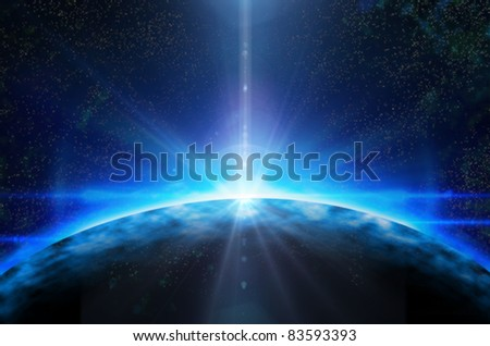 deep space planet background