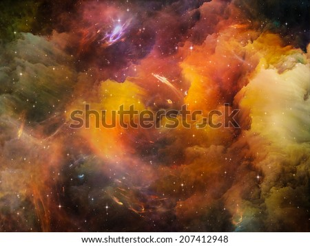 Deep Space series. Composition of nebula, stars and colors on the subject of astronomy, science, space and religion