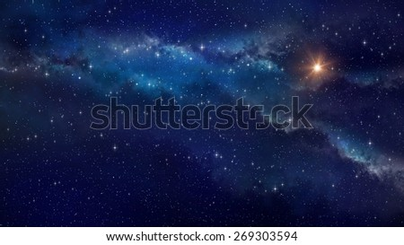 Deep space. Very high definition star field background - stock photo
