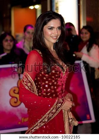 Deepika Padukoneat the Bollywood Film premiere of Om Shanti Om in London - stock photo