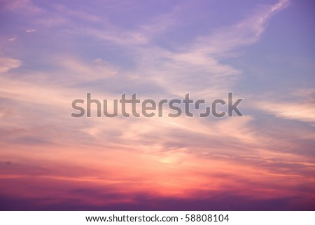 Deeply purple sunset - stock photo