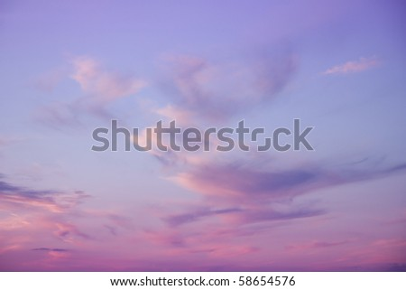 Deeply purple suset - stock photo