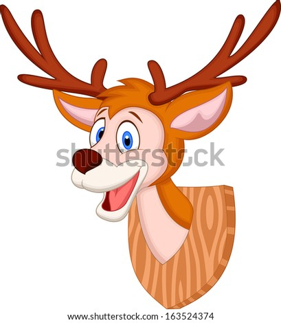 Deer head cartoon - stock photo