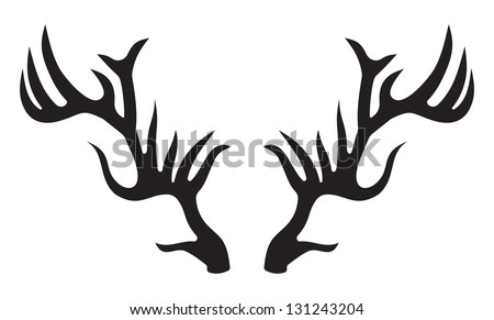 Rackaholic Whitetail Deer Decal P36187 furthermore Stock Vector Wild Deers With Big Antlers For Mascot Tattoo Or Hunting Design further Deer Antler Stencil likewise 193319 in addition Cat. on whitetail buck silhouette