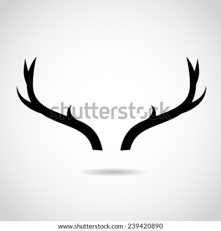 Deer horns icon isolated on white background.