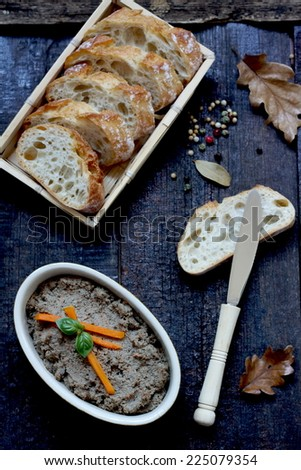Deer liver pate with carrot - stock photo