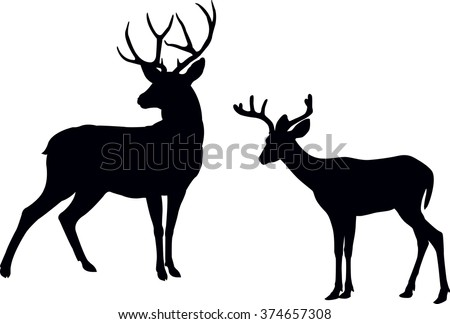 Deer Silhouette Stock Images, Royalty-Free Images & Vectors ...