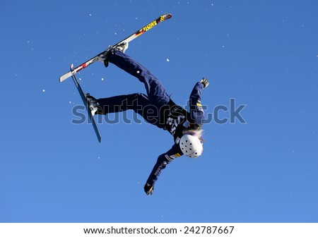 DEER VALLEY, UT - January 08: Kiley McKinnon finishes 2nd at the FIS VISA FREESTYLE World Cup, Aerials Competition in Deer Valley, UT on January 08, 2015