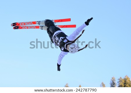 DEER VALLEY, UT - January 08: Nadiya Mokhnatska at the FIS VISA FREESTYLE World Cup, Aerials Competition in Deer Valley, UT on January 08, 2015