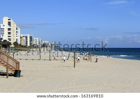 DEERFIELD BEACH, FLORIDA - FEBRUARY 1:  The State Parks and Recreation Division started in 1925 includes many recreational opportunities, events yearly on February 1, 2013 in Deerfield Beach, Florida