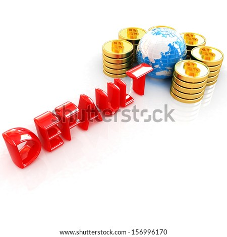 Default concept on a white background - stock photo