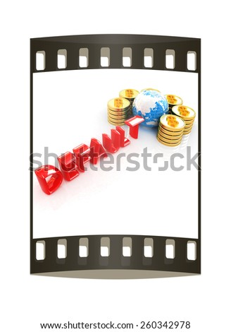 Default concept on a white backgroundt. The film strip - stock photo