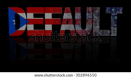 Default text with Puerto Rico flag and dollars illustration - stock photo