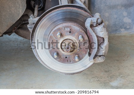 Defective brake disc Wait for the new maintenance