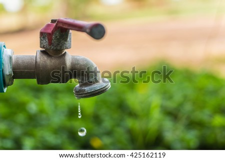 Defective Faucet Cause Wastage Water Old Stock Photo (Royalty Free ...