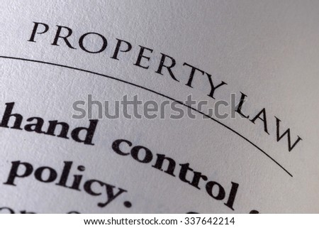 Definition of Property Law Close-Up