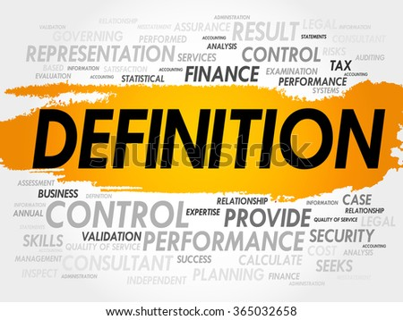 DEFINITION word cloud, business concept - stock photo