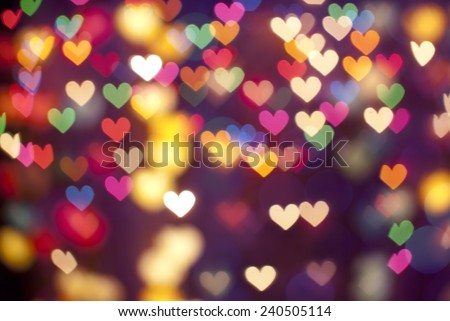 defocus bokeh light filtered heart abstract background. - stock photo