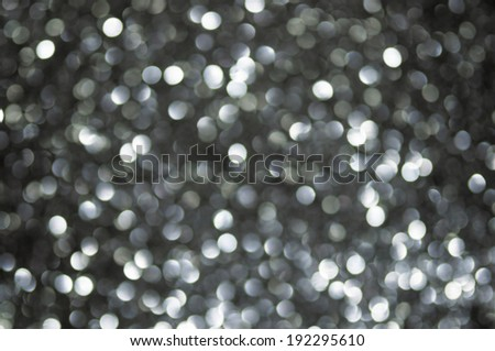 defocused abstract black silver lights background - stock photo