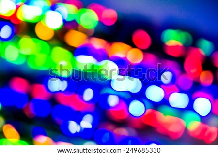 Defocused abstract bokeh for use at graphic design - stock photo