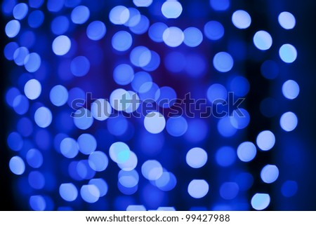 Defocused Abstract christmas lights as background