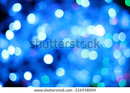 Defocused abstract lights Christmas background.