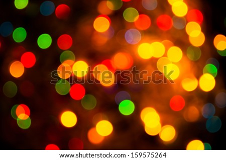 Defocused abstract multicolor christmas background