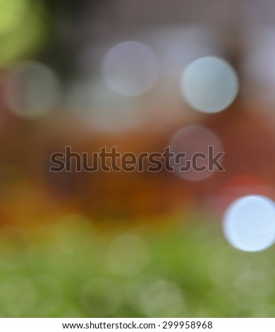 Defocused abstract red and green Christmas bokeh background - stock photo
