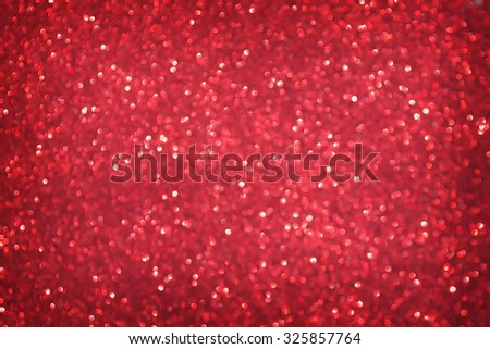 defocused abstract red christmas background - stock photo