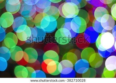Defocused abstract red green, blue, white, black backgroun - stock photo