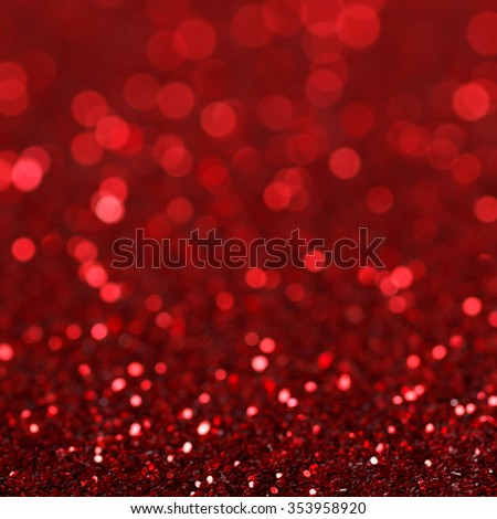 Defocused abstract red lights background. Christmas background - stock photo