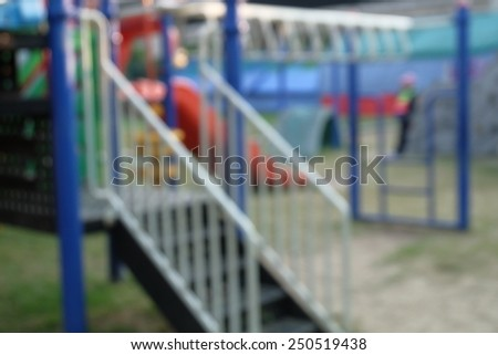 Defocused and blurred image for background of children's playground,activities at public park - stock photo