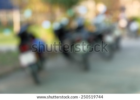 Defocused and blurred image of motorbike for background - stock photo