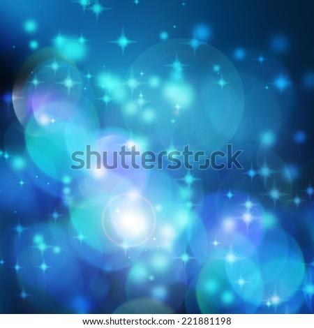 defocused blue christmas background - stock photo