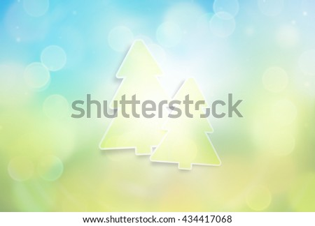 Defocused blurred bokeh shiny highlight background - stock photo
