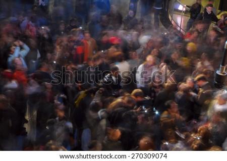 Defocused / Blurry Crowd of People - stock photo